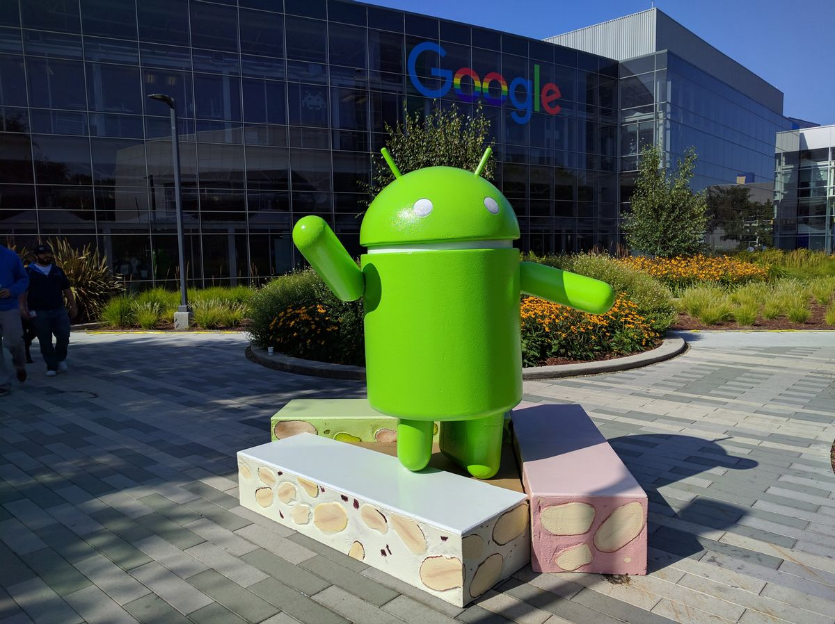 Android Nougat Statue (AP)