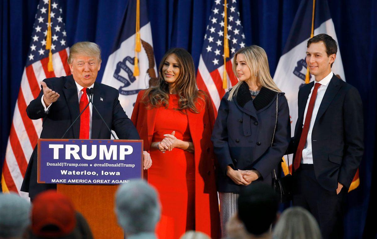 Donald Trump at a February campaign event (AP)