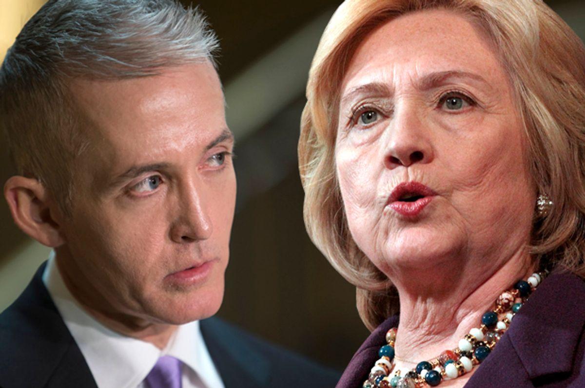 Trey Gowdy, Hillary Clinton   (AP/J. Scott Applewhite/Reuters/Mary Schwalm/Photo montage by Salon)