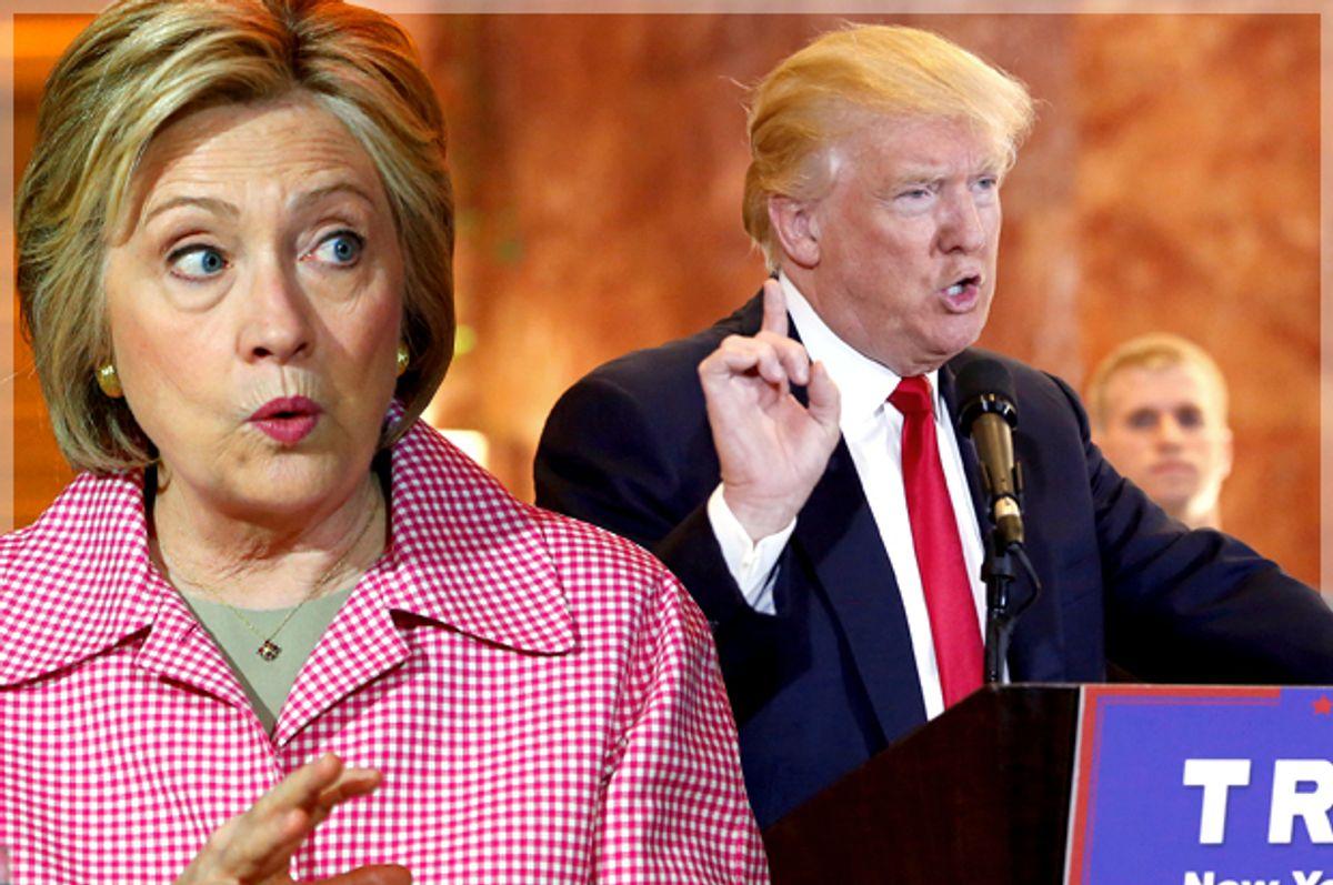 Hillary Clinton, Donald Trump   (Reuters/Stephen Lam/Lucas Jackson/Photo montage by Salon)