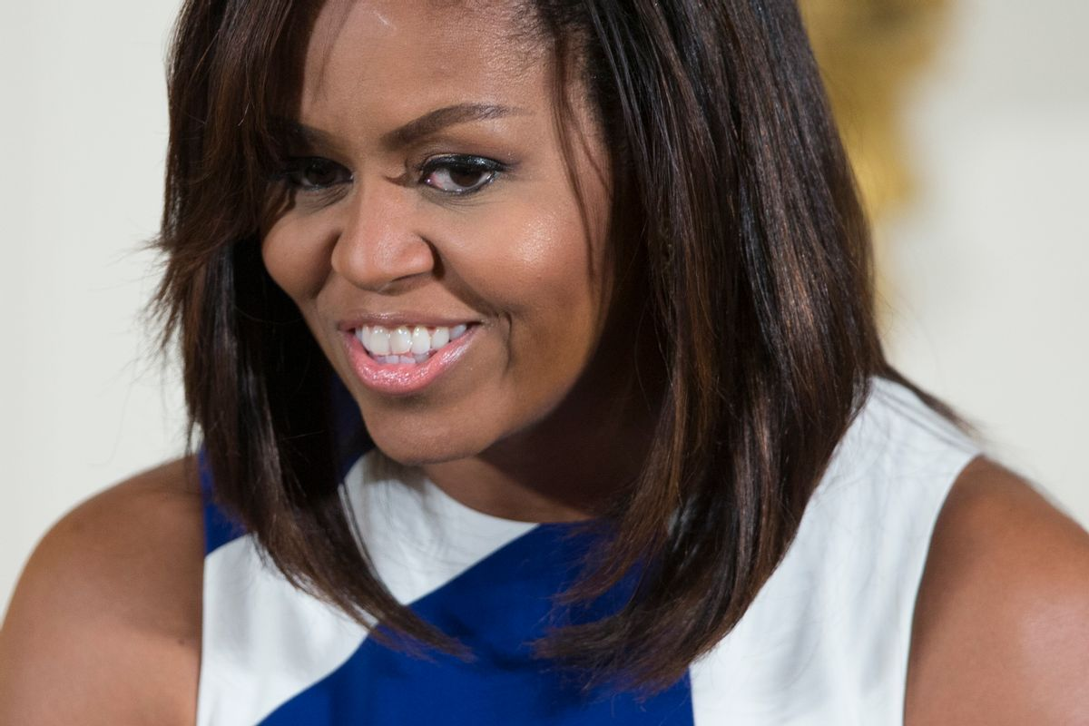 FILE - In this June 1, 2016 file photo, First lady Michelle Obama speaks in the East Room of the White House.  (AP)