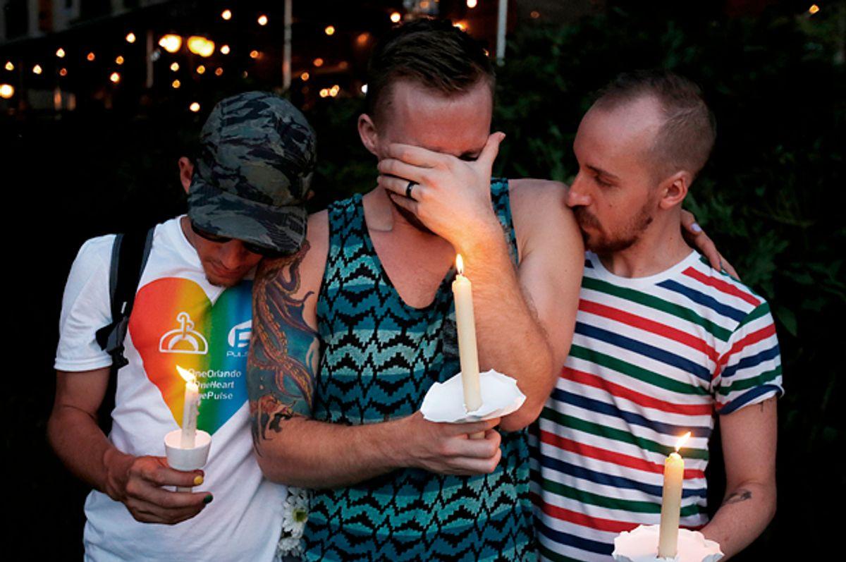 A vigil in Orlando, Florida. June 19, 2016.   (Reuters/Carlo Allegri)