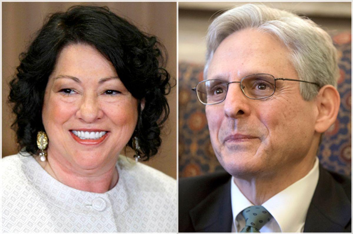 Sonia Sotomayor, Merrick Garland   (AP/J. Scott Applewhite)