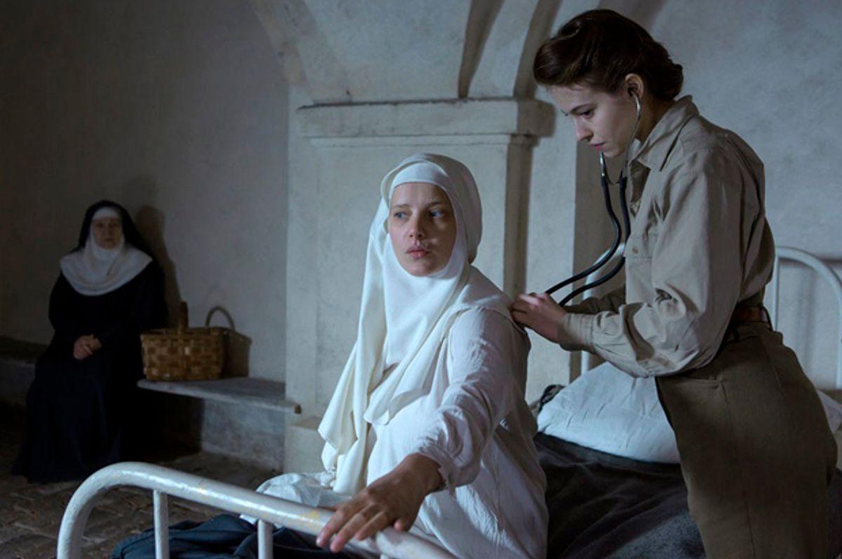 "Agata Kulesza, Joanna Kulig, and Lou de Laâge in ""The Innocents"" (Aeroplan Film)"