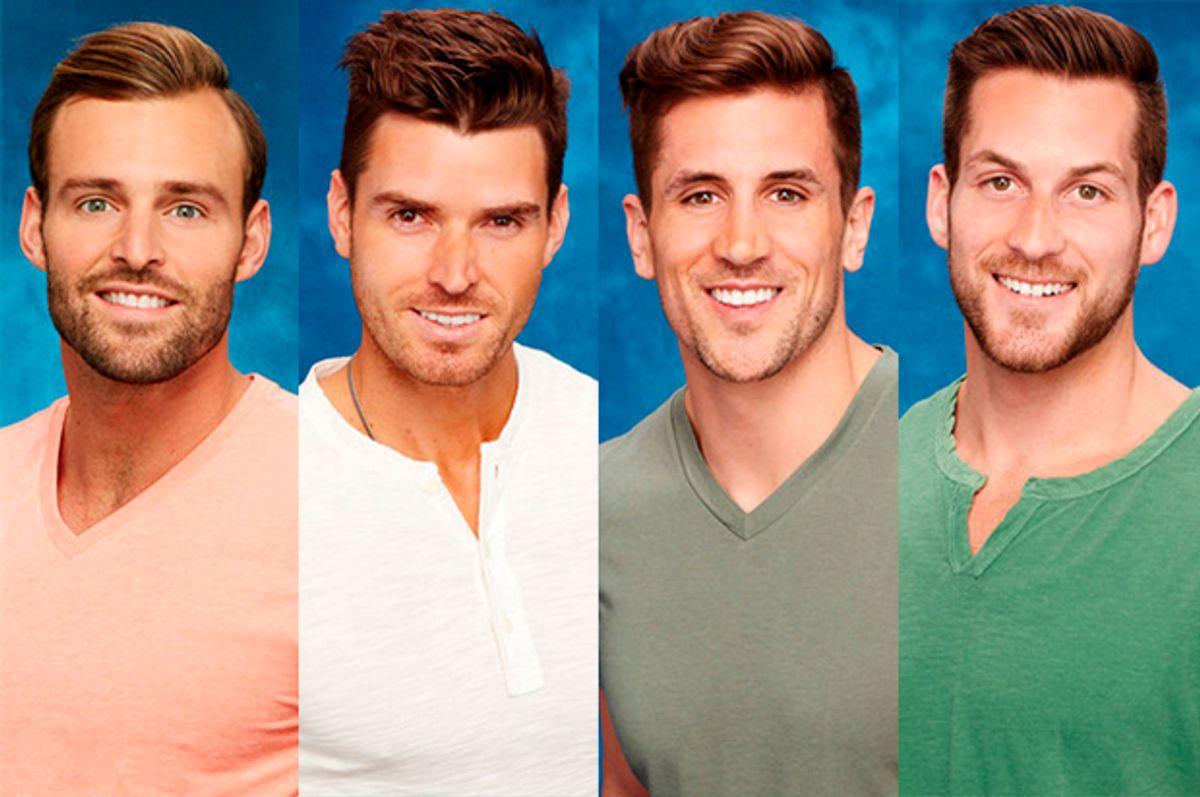 """The Bachelorette"" contestants Robby, Luke, Jordan and Chase.   (ABC)"
