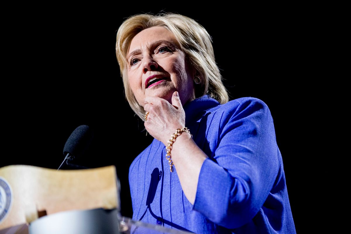 Democratic presidential candidate Hillary Clinton speaks at the 107th National Association for the Advancement of Colored People annual convention at the Duke Energy Convention Center in Cincinnati, Monday, July 18, 2016. (AP Photo/Andrew Harnik) (AP)