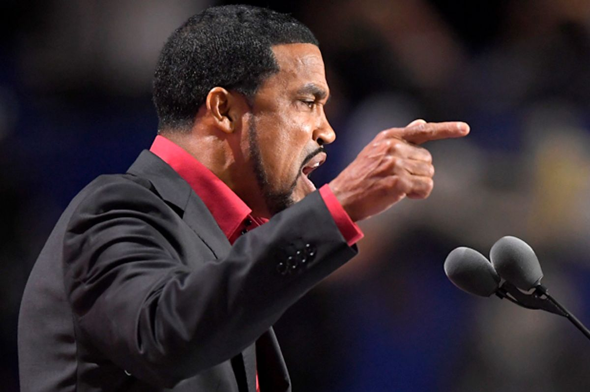Darrell Scott speaks at the Republican National Convention in Cleveland, July 20, 2016.   (AP/Mark J. Terrill)