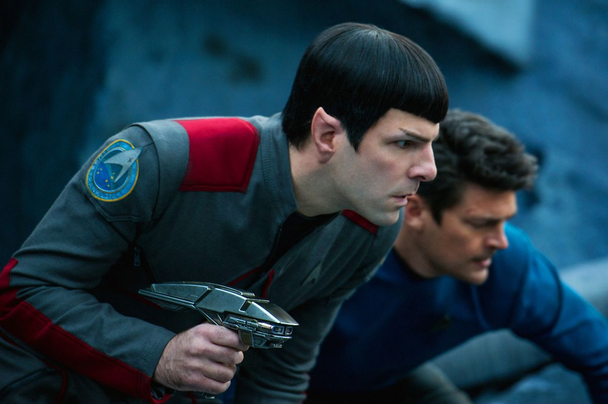 """In this image released by Paramount Pictures, Zachary Quinto, left, and Karl Urban appear in a scene from """"Star Trek Beyond."""" (Kimberley French/Paramount Pictures via AP) (AP)"""