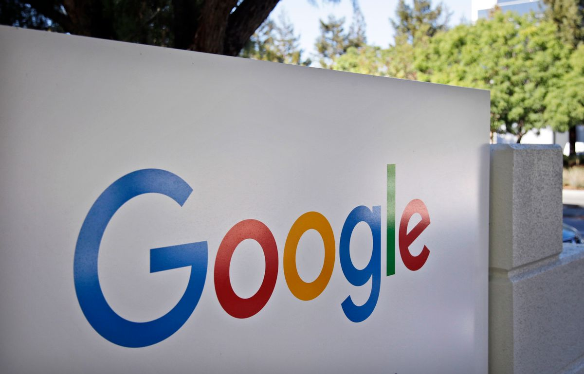 FILE - This Oct. 20, 2015, file photo, shows a sign outside Google headquarters in Mountain View, Calif.  (AP)