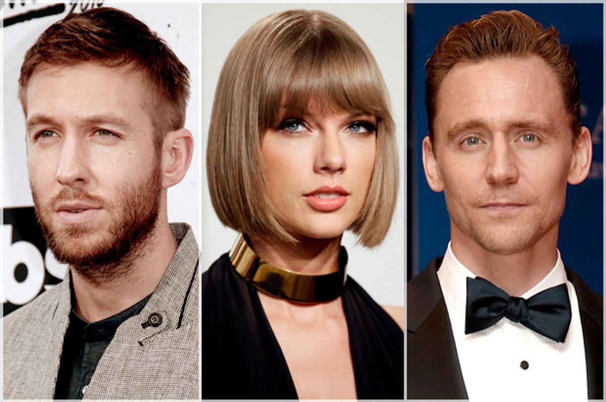 Calvin Harris, Taylor Swift, Tom Hiddleston   (Reuters/Danny Moloshok/Jonathan Ernst)