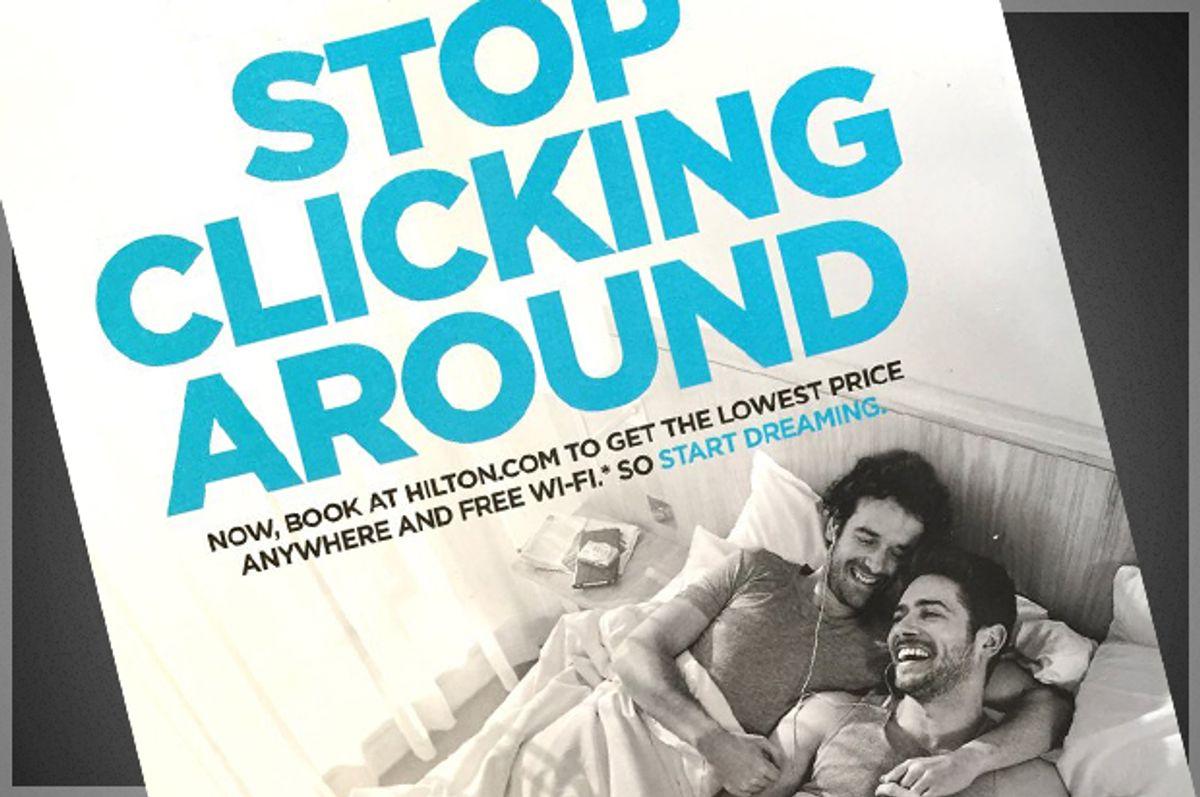 "Hilton's ""Stop Clicking Around"" ad (Hilton)"
