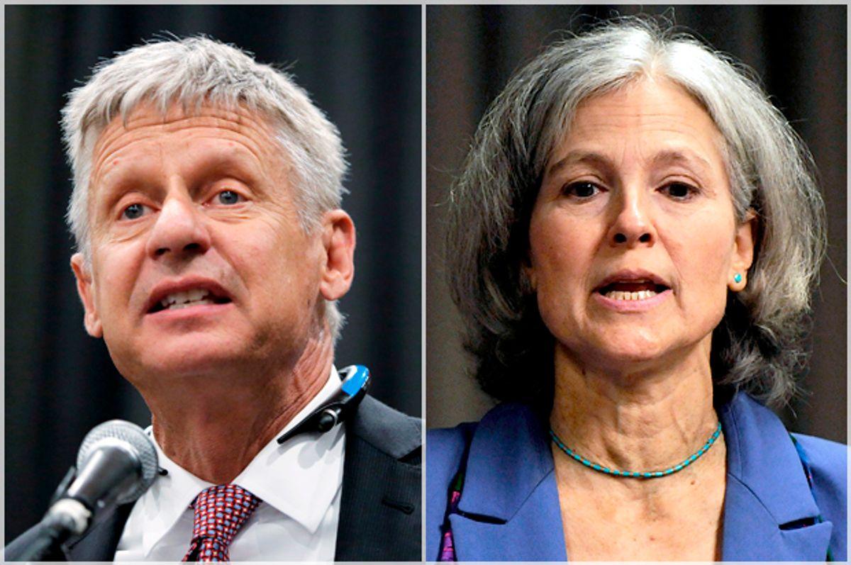Gary Johnson, Jill Stein   (Reuters/Lucas Jackson/Jonathan Ernst)