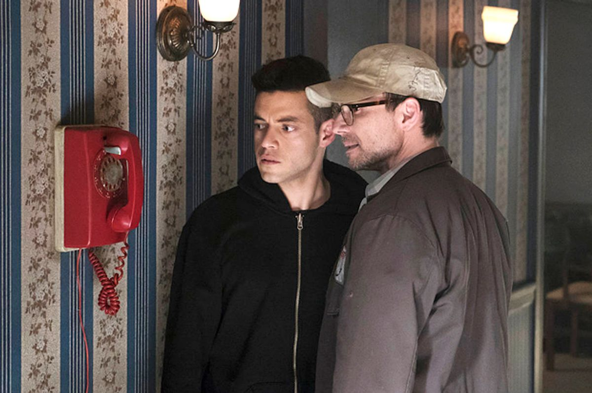 "Rami Malek and Christian Slater as ""Mr. Robot""   (USA/Peter Kramer)"