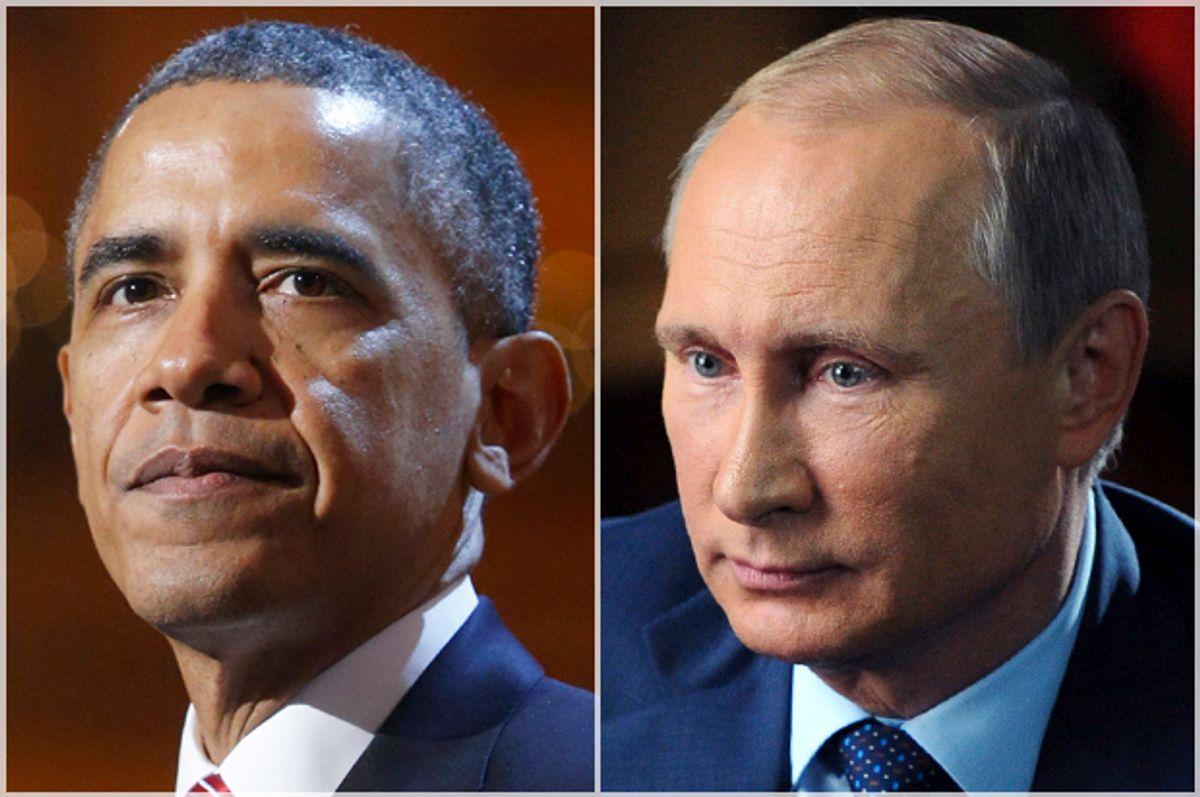 Barack Obama; Vladimir Putin   (Reuters/Jonathan Ernst/Michael Klimentyev)