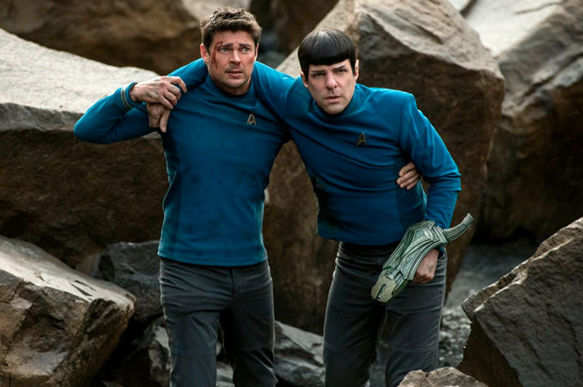 """Karl Urban and Zachary Quinto and in """"Star Trek Beyond""""   (Paramount PIctures)"""