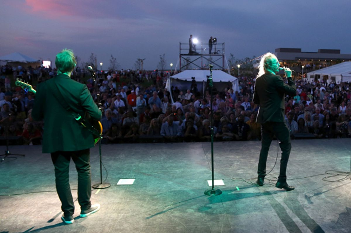 Three Dog Night at a Rock the Night kick off party on the sidelines of the Republican National Convention in Cleveland, July 17, 2016.   (Reuters/Aaron Josefczyk)