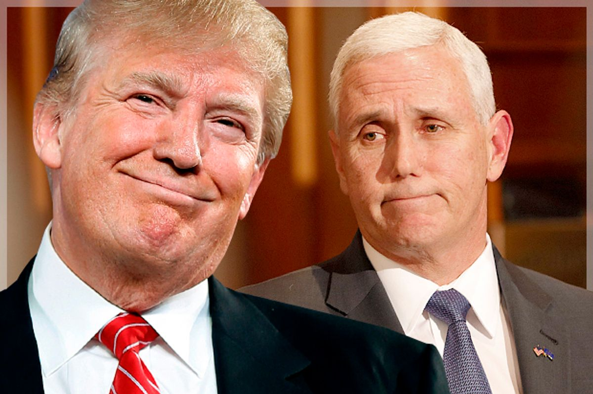 Donald Trump; Mike Pence   (AP/Andrew Harnik/AJ Mast/Photo montage by Salon)