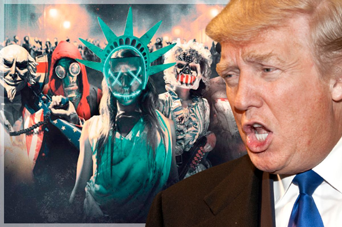 """Donald Trump; """"The Purge: Election Year""""   (AP/Universal Pictures)"""