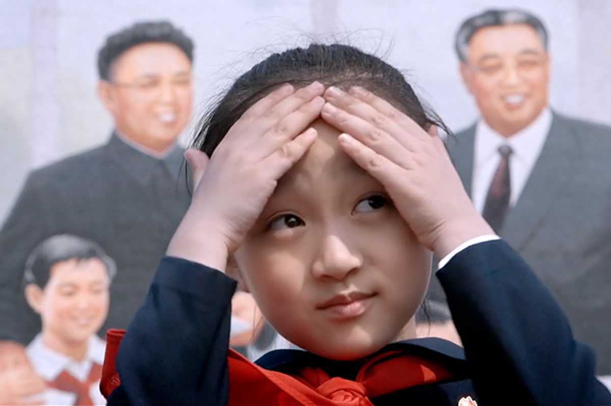 """Zin-mi, the eight-year-old North Korean girl featured in """"Under the Sun""""   (Icarus Films)"""