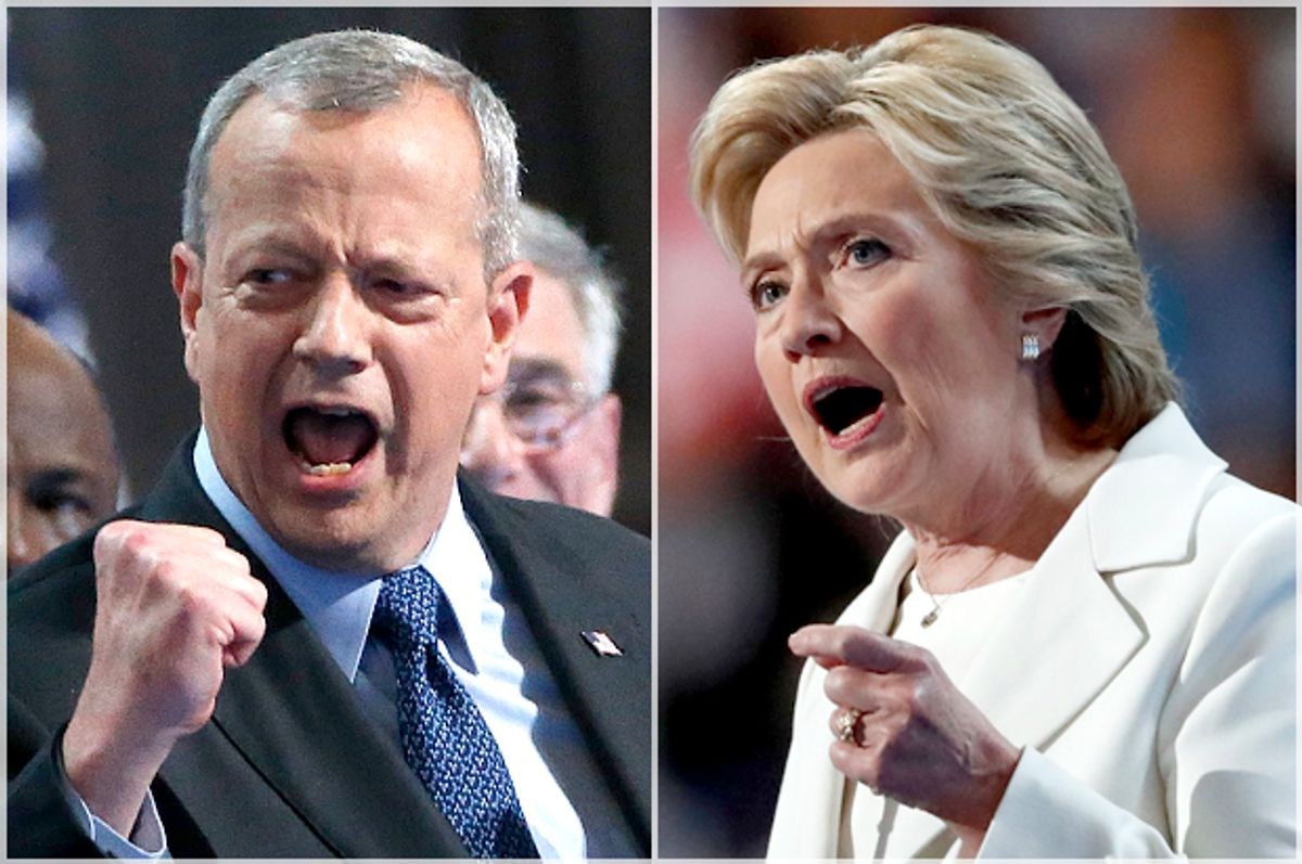 John Allen; Hillary Clinton   (Reuters/Lucy Nicholson/AP/Paul Sancya)