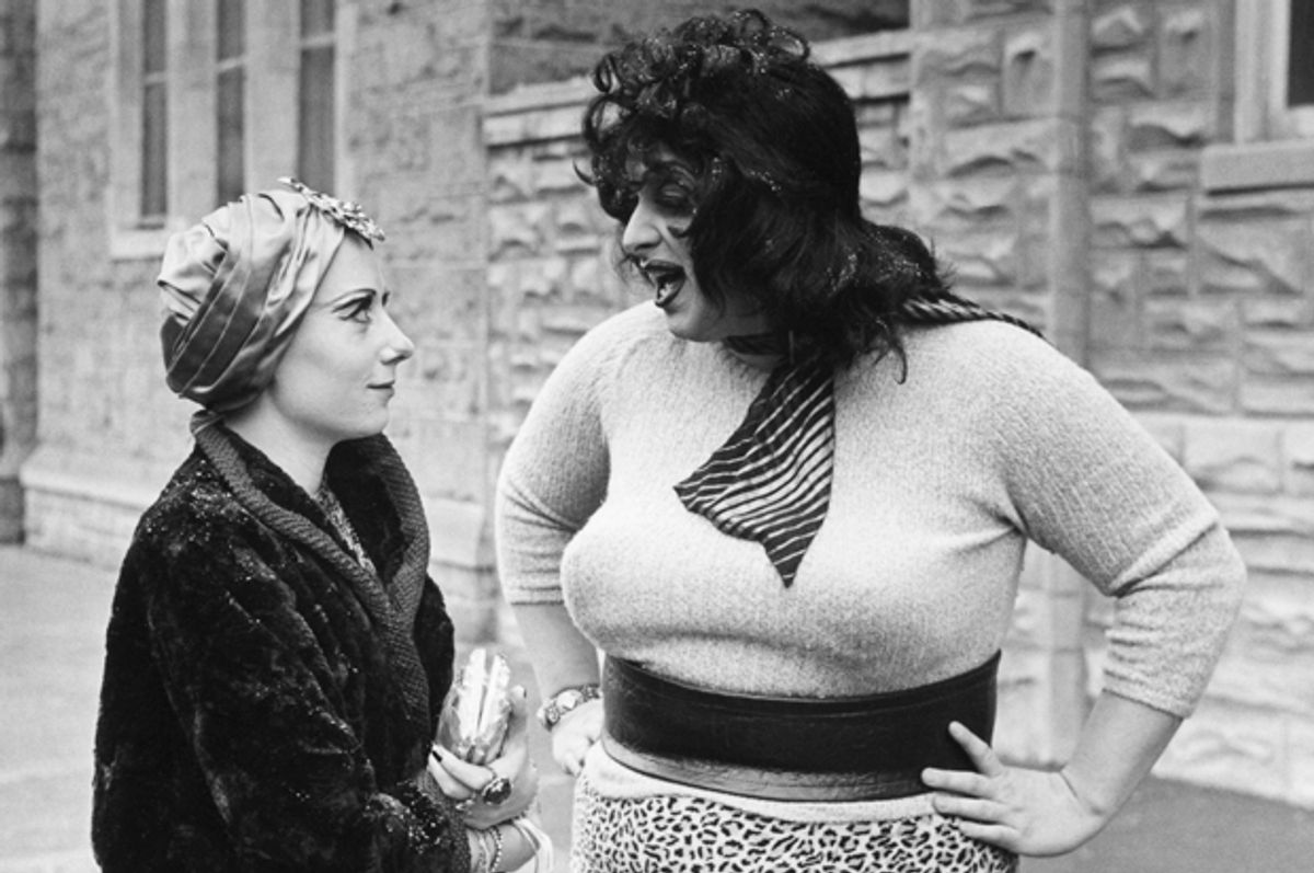 """Mink Stole and Divine in """"Multiple Maniacs""""   (Lawrence Irvin)"""