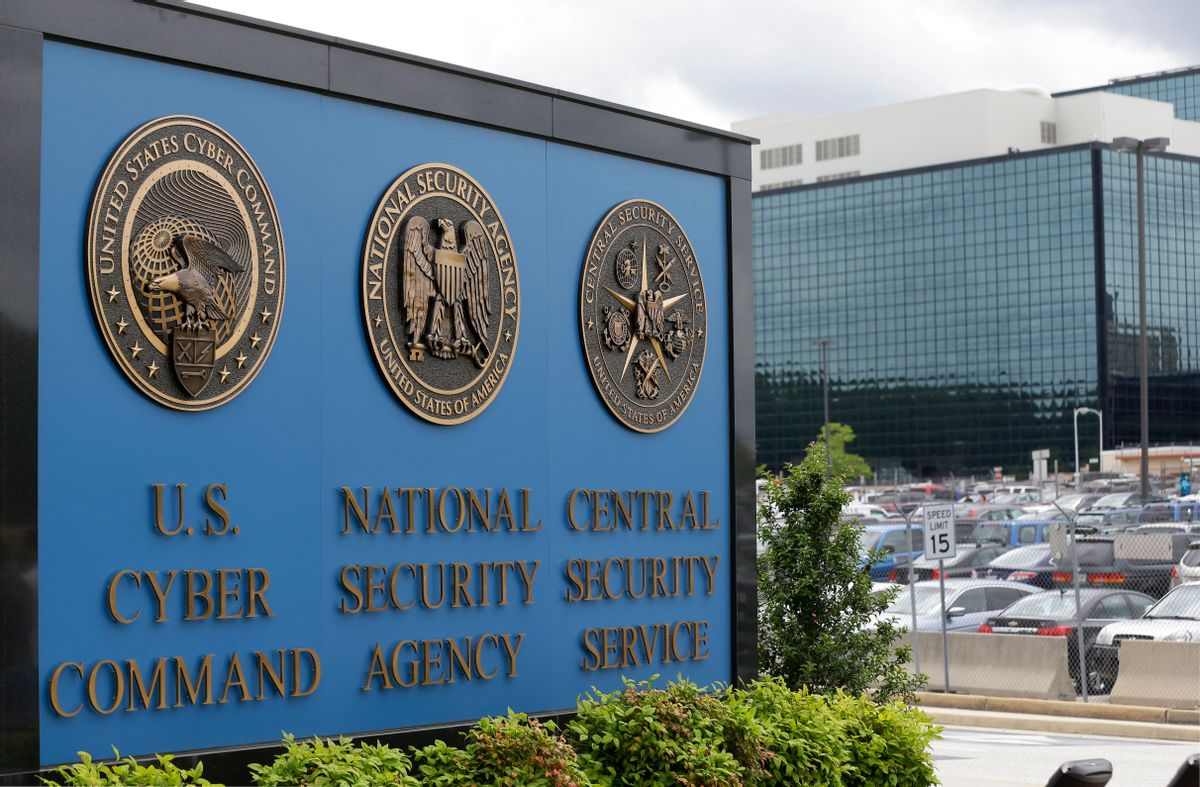 FILE - In his June 6, 2013 file photo, the National Security Agency (NSA) campus in Fort Meade, Md. The leak of what purports to be a National Security Agency hacking tool kit has set the information security world atwitter — and sent major companies rushing to update their defenses. Experts across the world are still examining what amount to electronic lock picks. Here's what they've found so far. (AP Photo/Patrick Semansky, File) (AP Photo/Patrick Semansky, File)