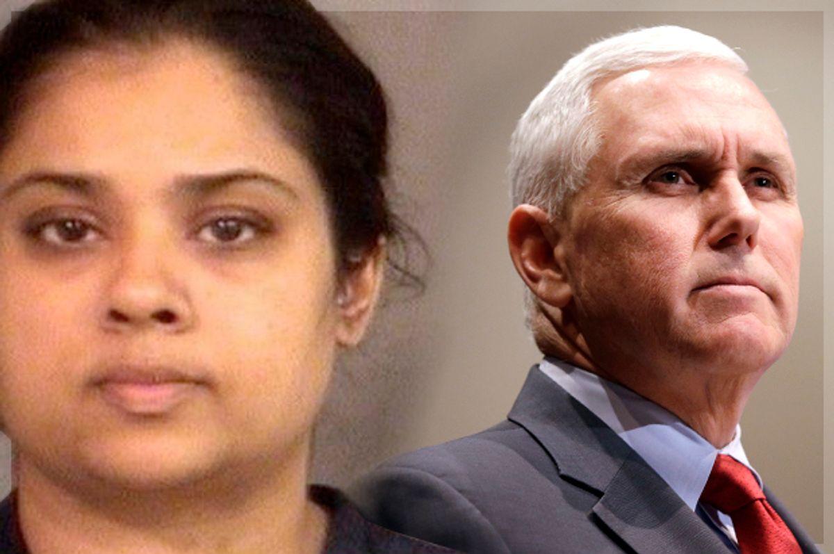 Purvi Patel; Mike Pence   (AP/Michael Conroy/Photo montage by Salon)