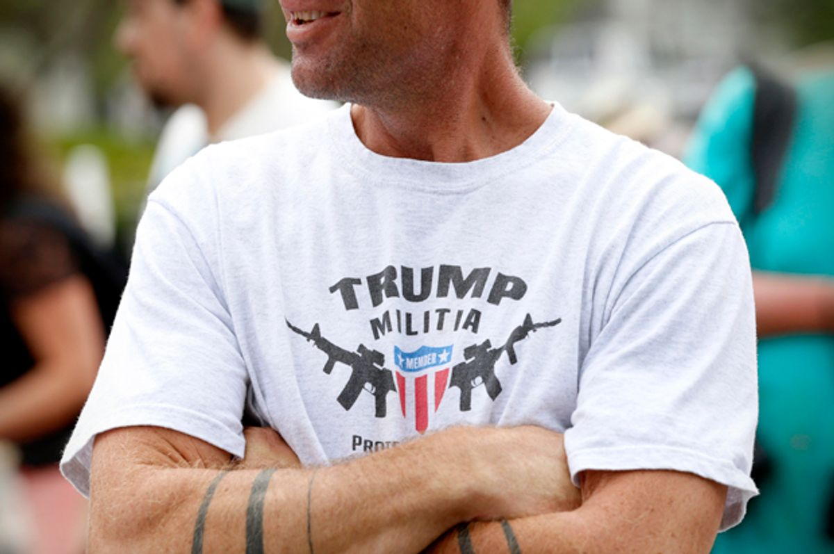 A Donald Trump supporter at a rally in Cleveland. July 18, 2016.   (Reuters/Lucas Jackson)