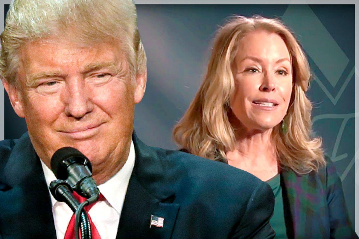 Donald Trump; Donna Rice Hughes   (AP/David Furst/YouTube/Set Free Summit/Photo montage by Salon)