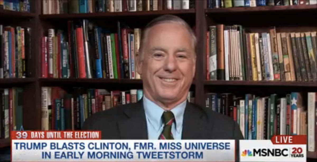 """Howard Dean appears on MSNBC to talk about his """"coke"""" tweet, September 30, 2016 (MSNBC)"""