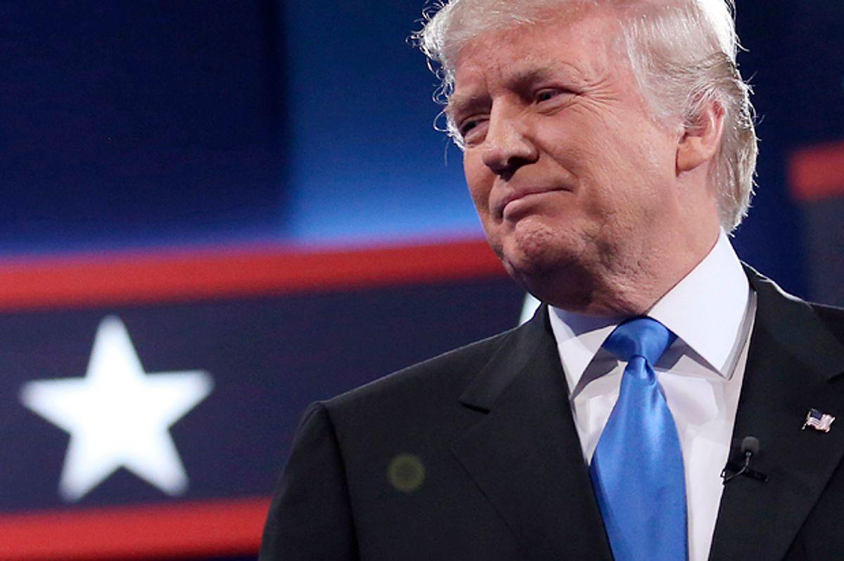 Donald Trump at the presidential debate in Hempstead, New York, September 26, 2016.   (Reuters/Carlos Barria)