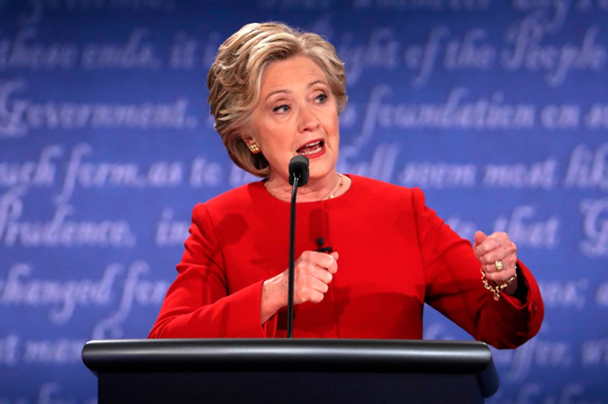 Hillary Clinton at the Presidential Debate on September 26, 2016 in Hempstead, New York.    (Getty/Spencer Platt)
