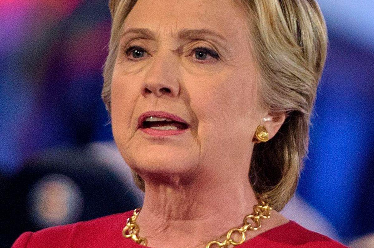 Hillary Clinton speaks during a veterans forum, September 7, 2016 in New York, New York.   (Getty/Brendan Smialowski)