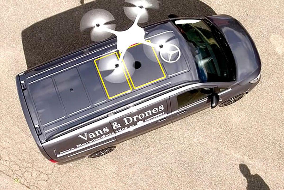"Mercedes-Benz/Matternet drone delivery vehicle (<a href=""https://mttr.net/"" target=""_blank"">Matternet</a>)"