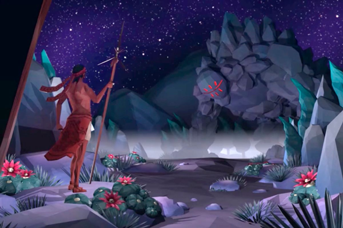A still from the concept trailer for Mulaka: Origin Tribes.   (YouTube/Lienzo)