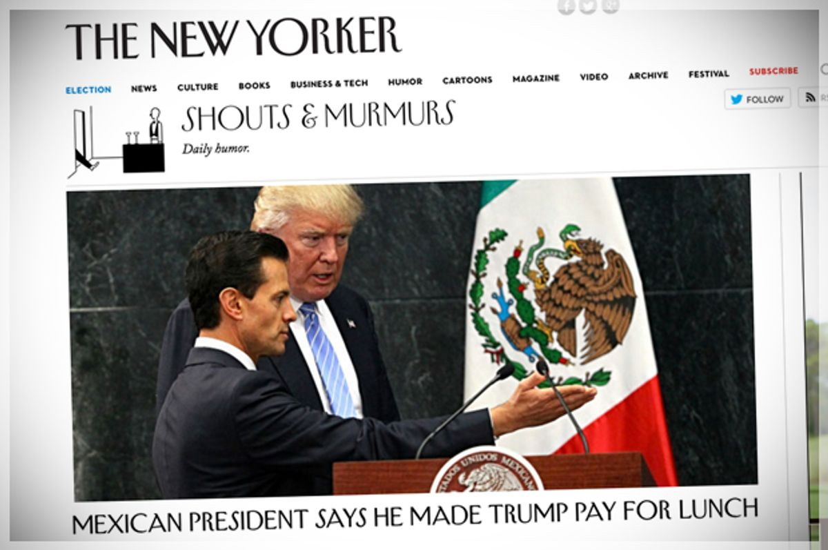 (newyorker.com/Screen Montage by Salon)