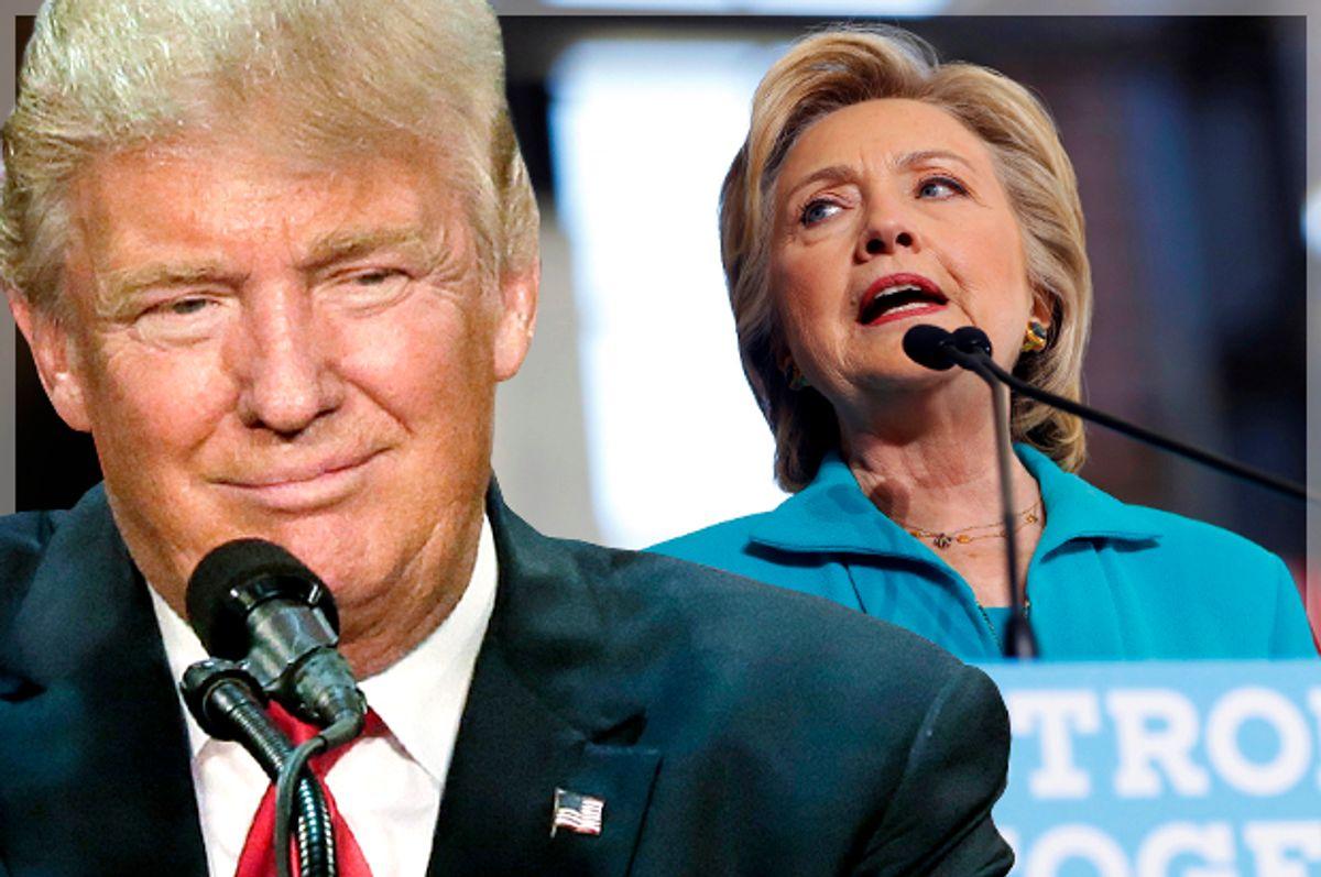 Donald Trump; Hillary Clinton   (AP/David Furst/Reuters/Aaron Bernstein/Photo montage by Salon)