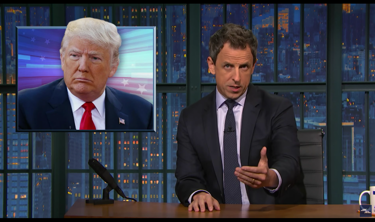 Screengrab from Late Night with Seth Meyers