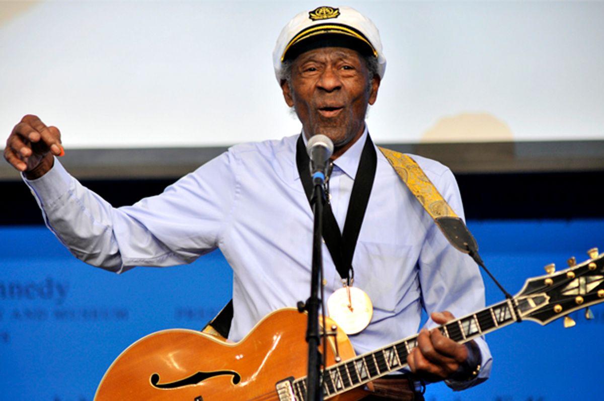 "Music legend Chuck Berry plays ""Johnny B. Goode""   (AP/Josh Reynolds)"
