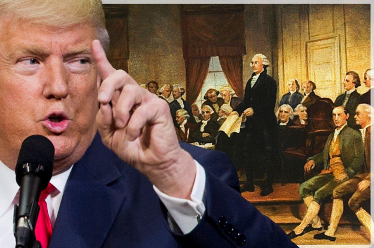 Donald Trump   (Getty/Dominick Reuter/Wikimedia)