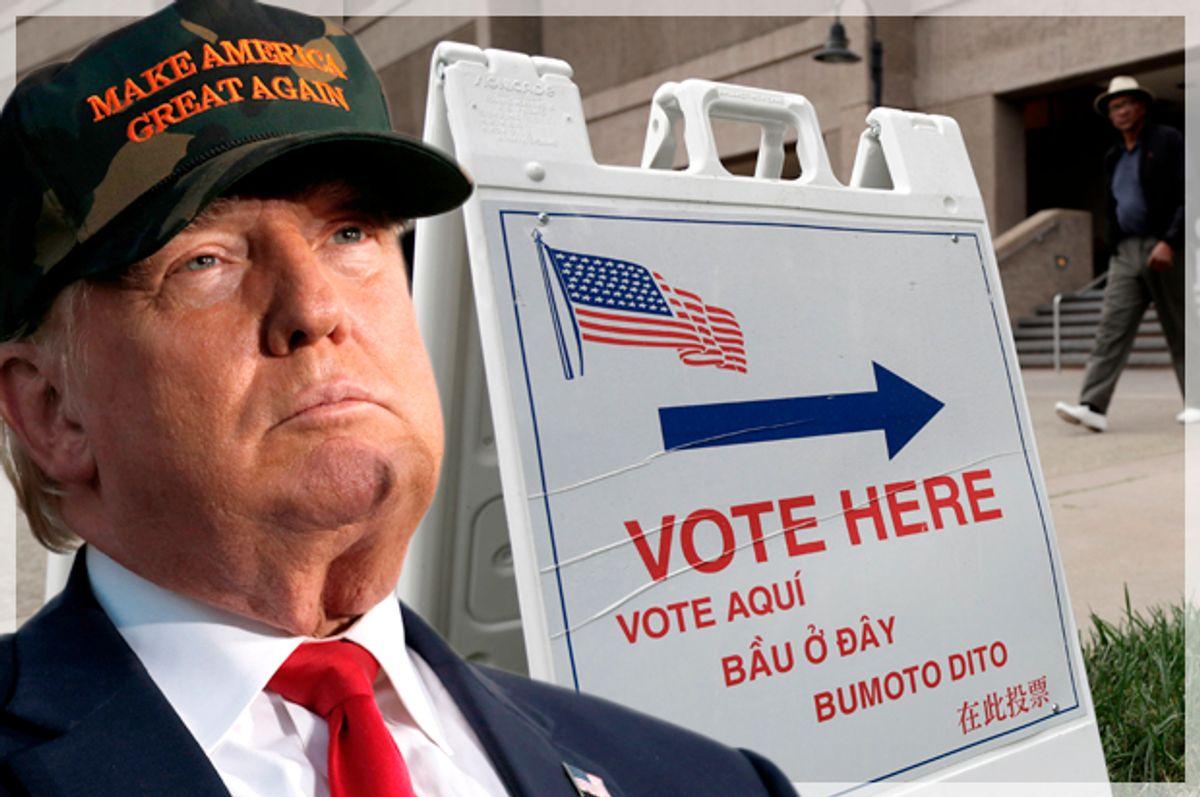 Donald Trump   (Reuters/Jonathan Ernst/AP/Marcio Jose Sanchez/Photo montage by Salon)