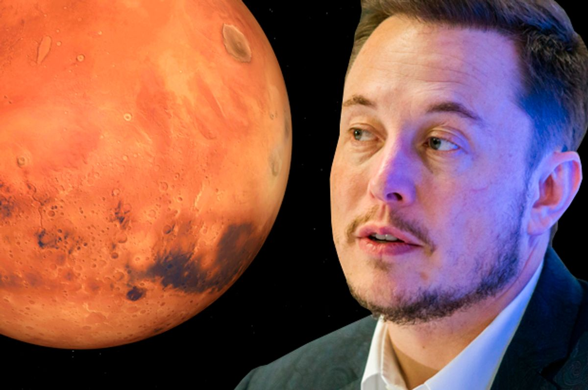 Elon Musk   (Getty/Hector Guerrero/Photo montage by Salon)