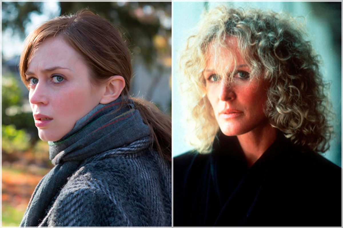 """Emily Blunt in """"The Girl on the Train;"""" Glenn Close in """"Fatal Attraction"""""""