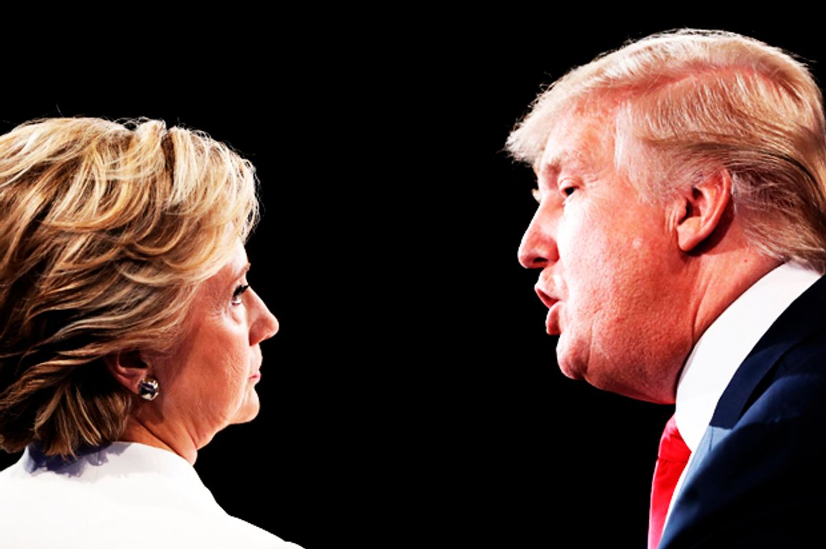 Hillary Clinton; Donald Trump   (Getty/Joe Raedle/Photo montage by Salon)
