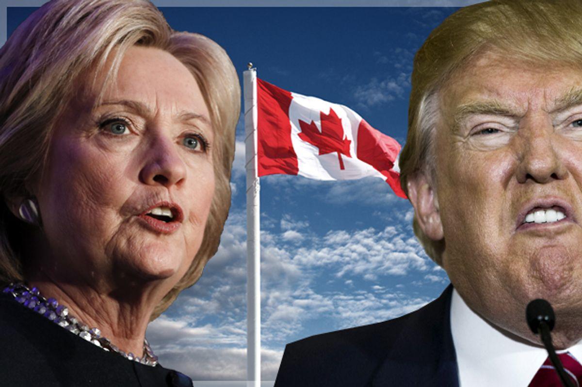 Hillary Clinton; Donald Trump   (AP/Matt Rourke/Reuters/Lucas Jackson/<a href='http://www.shutterstock.com/gallery-964793p1.html'>njene</a> via <a href='http://www.istockphoto.com/'>iStock</a>/Salon)