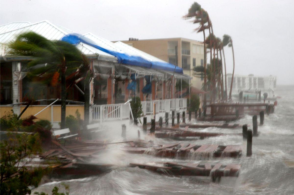 Heavy waves caused by Hurricane Matthew  on Cocoa Beach, Florida.    (Getty/Mark Wilson)