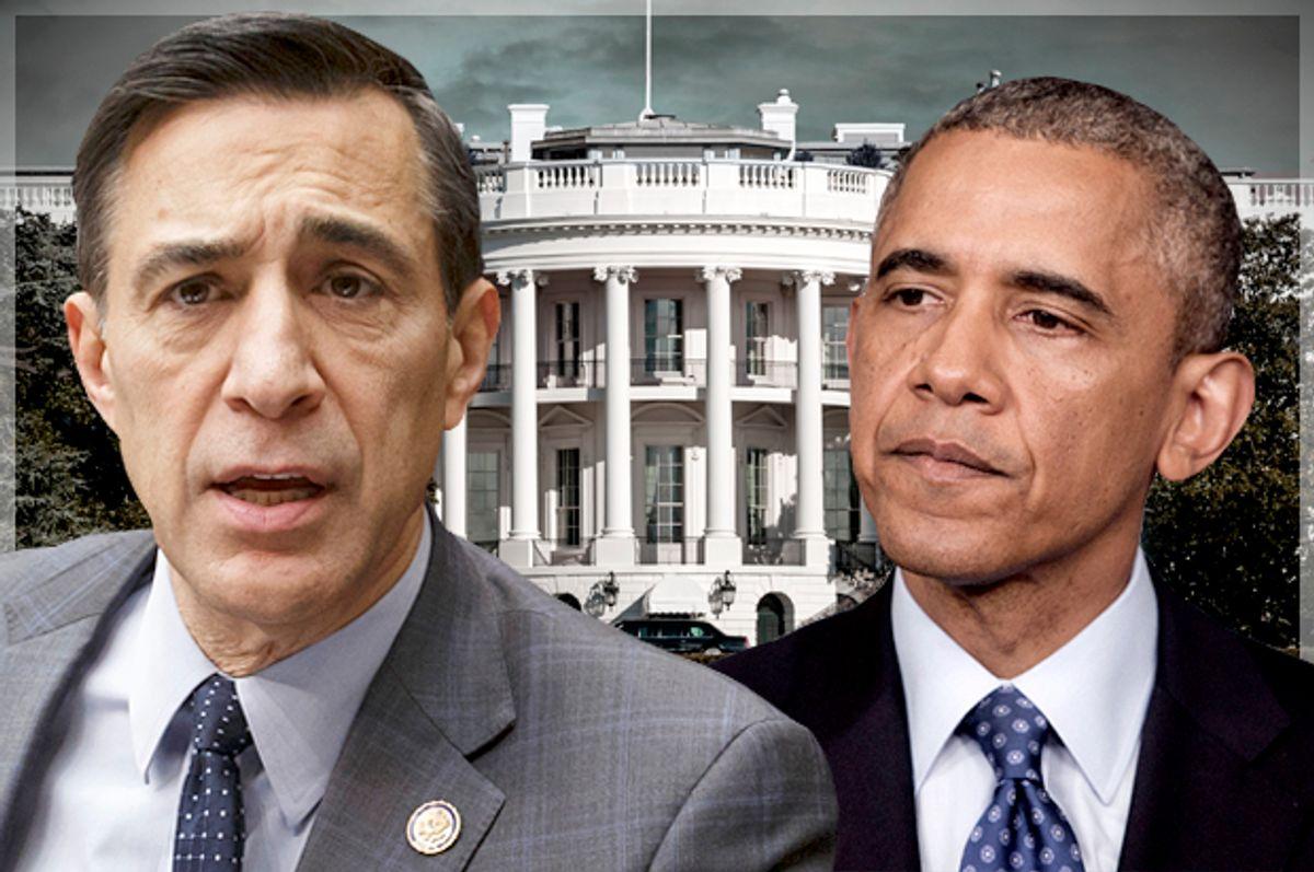 Darrell Issa; Barack Obama  (AP/J. Scott Applewhite/Pablo Martinez Monsivais/Salon)
