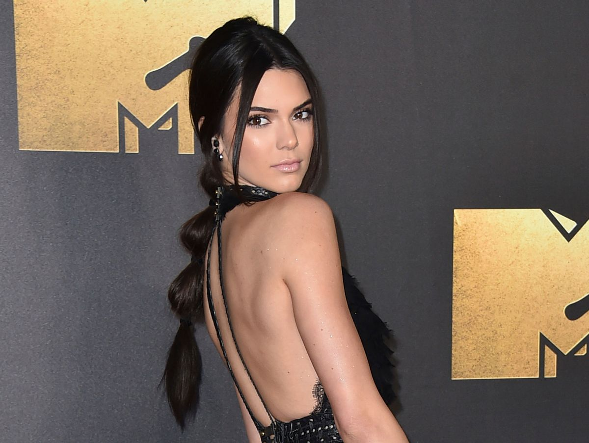 FILE - In this April 9, 2016 file photo, Kendall Jenner arrives at the MTV Movie Awards in Burbank, Calif. Jenner appeared in a downtown Los Angeles courtroom on Thursday, Oct. 13, 2016, to testify against a man charged with stalking the actress after he was arrested outside her Hollywood Hills home in August. (Photo by Jordan Strauss/Invision/AP, File) (AP)