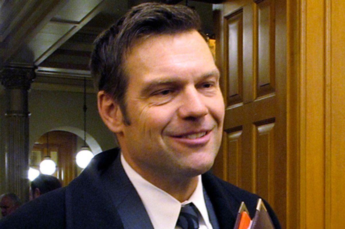 Kansas Secretary of State Kris Kobach   (AP/John Hanna)