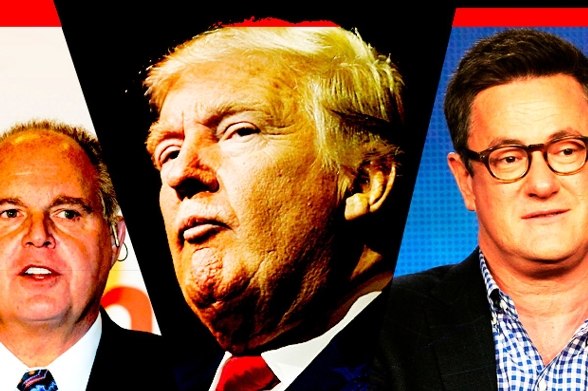 Rush Limbaugh; Donald Trump; Joe Scarborough   (Getty/Ethan Miller/Reuters/Mike Segar/Getty/Frederick M. Brown/Salon)